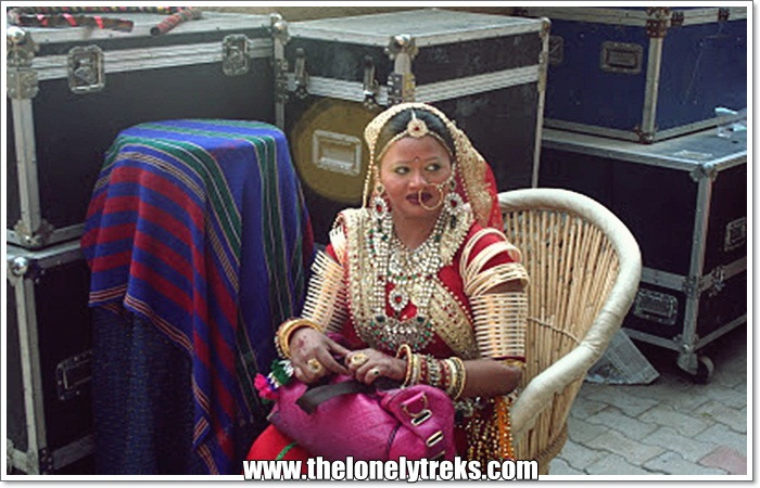 Artist Getting Ready for performance at Surajkund Crafts Mela